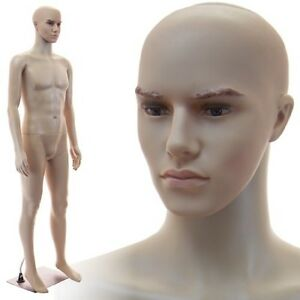 Realistic Standing Male Adult Mannequin Base f 02b