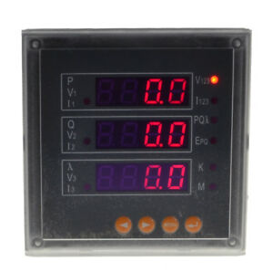 Three phase 3p Digital Multifunction Electricity Meter Volt Amp P Q Hz Kwh Kvarh