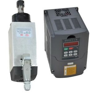 4kw Air cooled Motor Spindle And 4kw Huan Yang Vfd Inverter Drive For Cnc