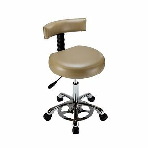 Med resource 925 Hands free Medical Stool W Backrest