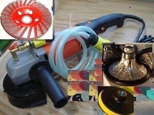 Wet Granite Concrete Grinder 3 16 Roundover Bullnose Router Polishing Pad Cup