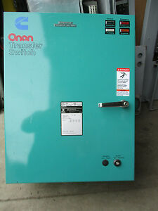 Onan cummings 40 Amp 3 Phase 208 Volt Automatic Transfer Switch Ats244