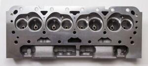 Sbc Small Block Chevy Straight Plug Aluminum Cylinder Head Set 64cc 2 02 1 60