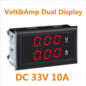 Dc 33v 10a Dual Led Display Digital Volt ammeter Voltage Current Detector Meter