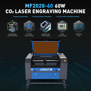 Omtech 60w 28x20inch Co2 Laser Cutter Engraver Ruida With Cw 3000 Water Chiller