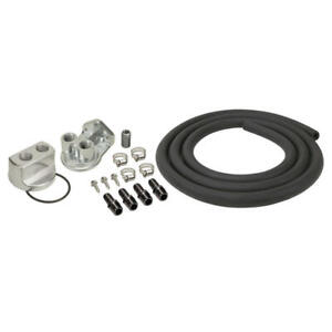 Derale Engine Oil Filter Remote Mounting Kit 15717 3 4 16 Filter 18mm X 1 5