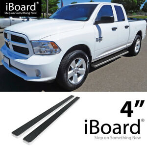 4 Silver Eboard Running Boards For 2009 2018 Dodge Ram 1500 Quad Cab Pickup