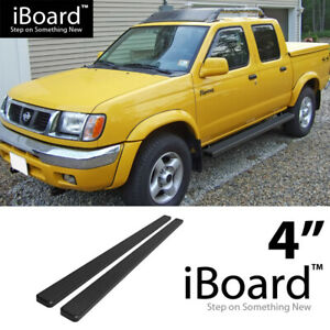 4 Black Eboard Running Boards For 1999 2004 Nissan Frontier Crew Cab Pickup