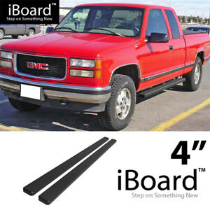 4 Black Eboard Running Boards For 88 98 Chevy Gmc C K Extended Cab Incl Z71