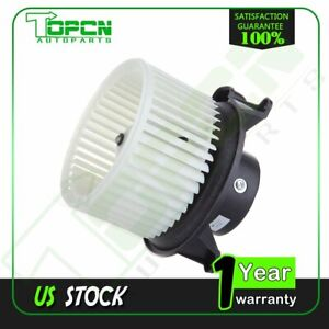 Heater Blower Motor With W Fan Cage For Chevy Tahoe Gmc Sierra Pickup A C Hvac
