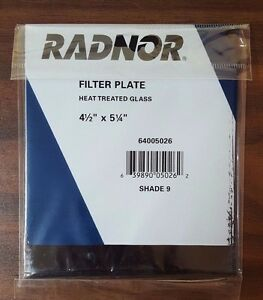 Case Of 75 Radnor Shade 9 Heat Treated Glass Filter Plates Rad64005026 Free Ship