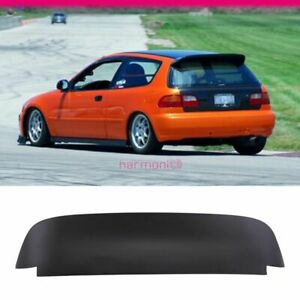 Fits 92 95 Honda Civic Spoon Style 3dr Roof Spoiler Painted Matte Black Abs