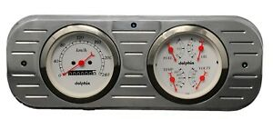 1937 1938 Chevy Car Gauge Cluster White Metric