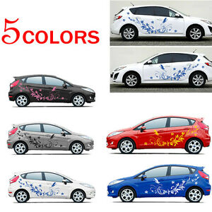 Diy Modifield Whole Car Body Vinyl Stickers Natural Flower Vine Dragonfly Decal