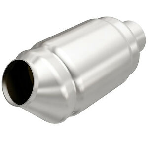 Magnaflow 54975 Universal High flow Catalytic Converter Round Spun 2 25 In out