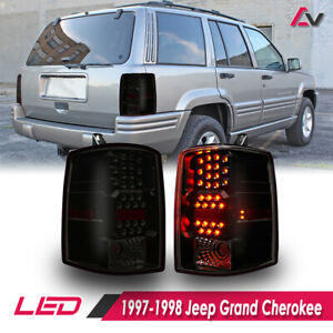Led Taillight For 1997 1998 Jeep Grand Cherokee Black Smoke