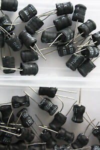 40x Lot Of 40 Pcs Quality Through Hole Inductors Different Values Assortment
