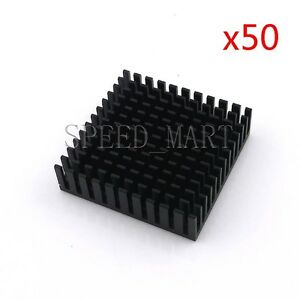 50pcs Heat Sink For Cpu Router Electronic Led Power Transistor 40 40 11mm