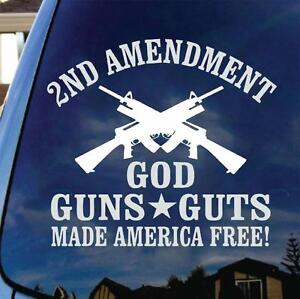 God Guns Guts Decal Sticker Molan Labe 2nd Amendment 3 Percenter Nra Ar 15 Trump