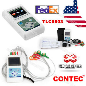 Portable 3 channel 24h Ecg Ekg Holter Analyze System Recorder Monitor software