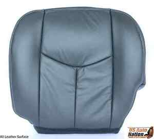 2005 2006 Gmc Sierra 2500hd Slt Driver Side Bottom Leather Seat Cover Dark Gray