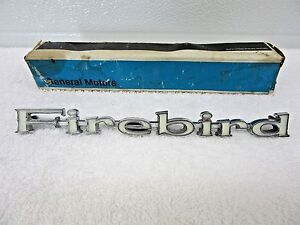 1967 1968 1969 Pontiac Firebird Emblem Ornament Logo Fender Trim Gm9796319 Dp