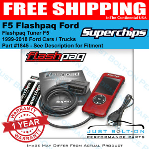 Superchips Flashpaq 1845 Tuner 99 2018 F150 Ecoboost Raptor Powerstroke Mustang