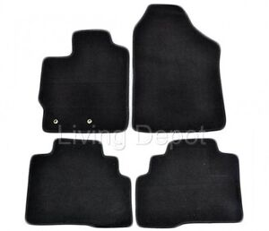 Fit For 2007 2012 Toyota Yaris Floor Mats Carpet Front Rear Nylon Black 4pc