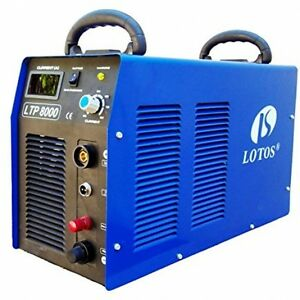 Lotos Ltp8000 80amp Non touch Pilot Arc Air Plasma Cutter 1 Inch Clean Cut