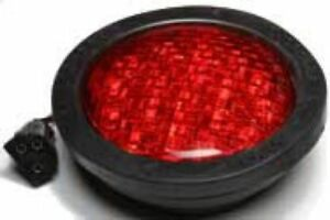 Red 4 Round Led Stop tail turn Lights 1 Per Pack
