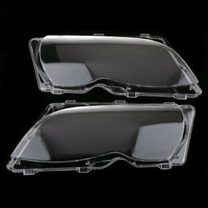 For Bmw E46 4dr 2002 2005 2x Car Headlight Head Lamp Lense Clear Lens Cover