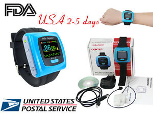 Fda Wrist Finger Tip Pulse Oximeter Oled Spo2 Heart Rate Monitor Overnight Graph