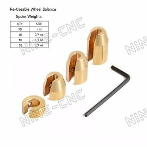 Reusable Motorcycle Spoke Weights For Dual Sport Wheels