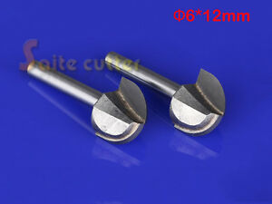 2pc Cnc Carbide Round Bottom End Mill Woodworking Router Bit Wood Tool 6mmx12mm