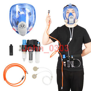 Three in one Function Supplied Air Fed Respirator System 6800 Full Face Gas Mask