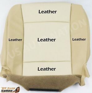 06 07 08 Ford Explorer Eddie Bauer Two Tone Tan Leather Seat Cover Lh Bottom