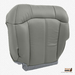 1999 2000 2001 2002 Chevy Silverado Tahoe Driver Bottom Vinyl Seat Cover Gray