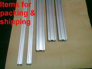 Aluminum T slot Extruded Profile 20x20 6 20x40 6 L400 350 300mm 5 Pieces Set