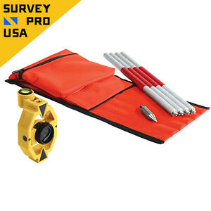 New topcon Style 30mm Offset Mini Prism Pole Set