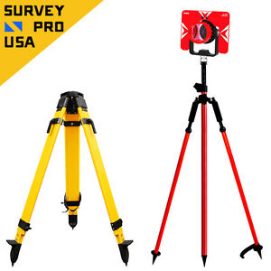 Total Station Starter Set Kit Prism 8ft 2 6m Prism Pole Bipod Tripod