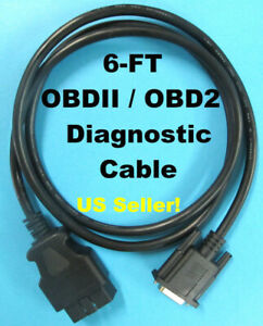 6ft Obd2 Obdii Scanner Main Data Cable For Matco Quickscan Md9001 Code Reader
