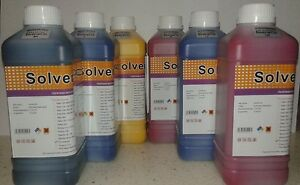 Eco Solvent Ink Dx2 Dx4 Dx5 Dx6 Roland Mimaki Mutoh Printers 6 Liters Usa Ship