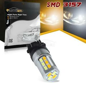 3157 Amber White Dual Color Switchback Turn Signal Light High Power Led Bulb