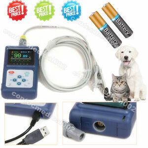 Us Seller Veterinary Pulse Oximeter Handheld Spo2 Pr Monitor Vet Tongue Probe sw