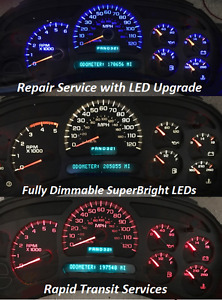 Chevrolet Silverado 2003 2006 Instrument Gauge Cluster Repair With Led Upgrade