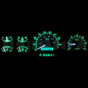 Dash Instrument Cluster Gauge Green Led Light Kit Fits 92 96 Ford F150 F250 F350