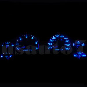 Dash Instrument Cluster Gauge Blue Smd Led Light Kit Fits 97 06 Jeep Wrangler Tj
