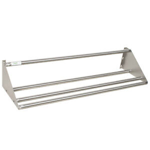 62 Wall Mounted Nsf Stainless Steel Restaurant Glass Dish Rack Shelf