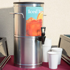 3 Gallon Stainless Steel Iced Tea Beverage Dispenser