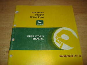 John Deere 610 Chisel Plow Manual